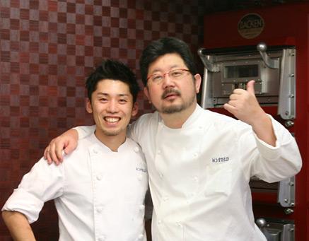 上田氏と福原シェフ